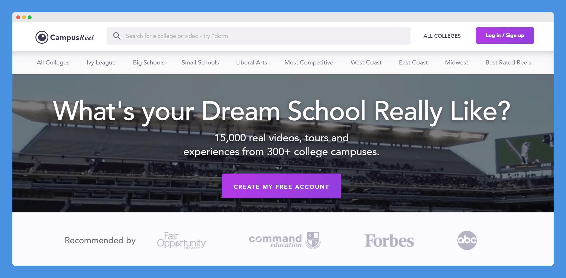 CampusReel Homepage